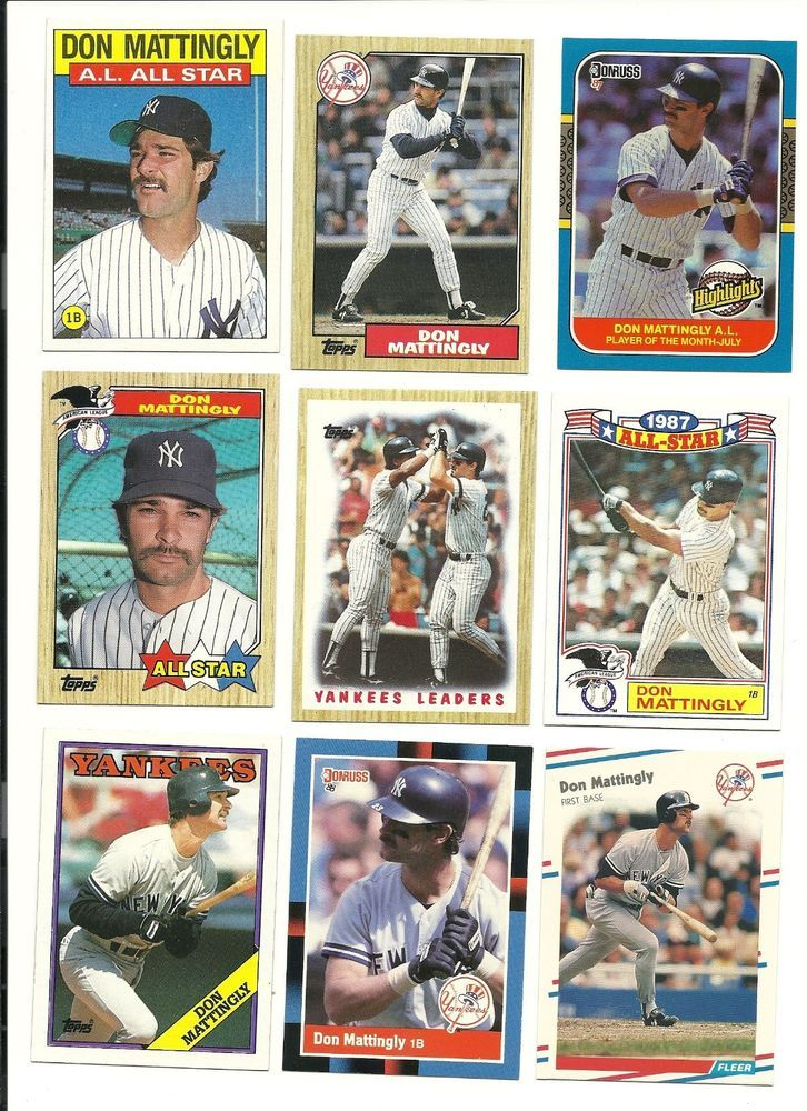 Huge 40 Different Don Mattingly Cards Lot Yankees No Dupes No Dups