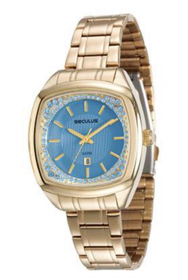 d3d08ba21c7 23536LPSVDS2 Relógio Feminino Dourado Seculus Analógico