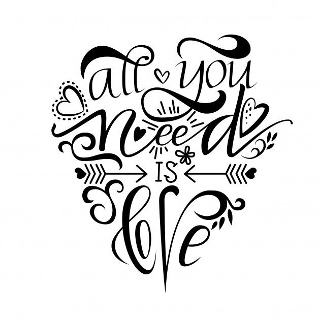 Download Unique Brushpen Lettering All You Need Is Love in 2020 ...