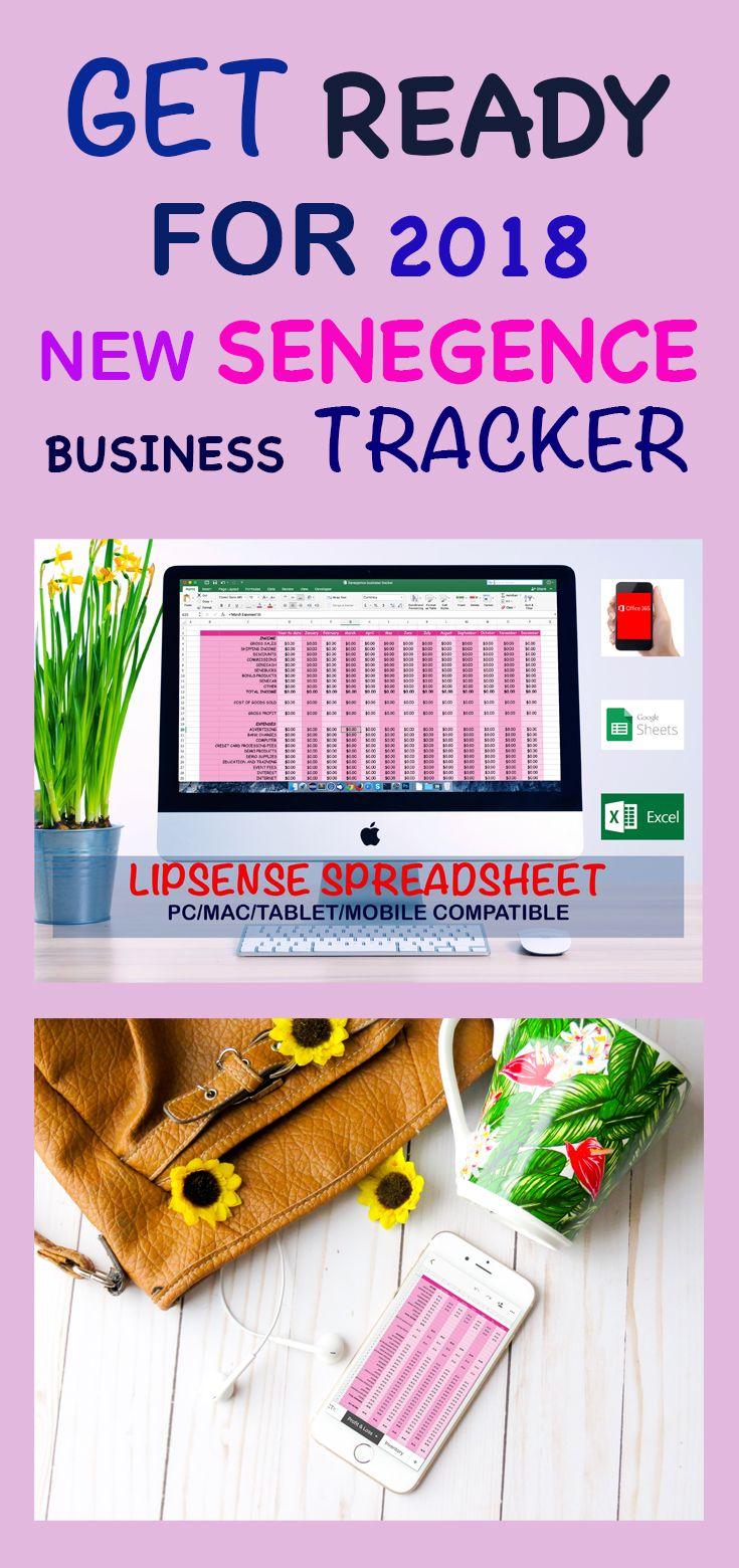 Lipsense Spreadsheet Senebusiness Tracker Senegence