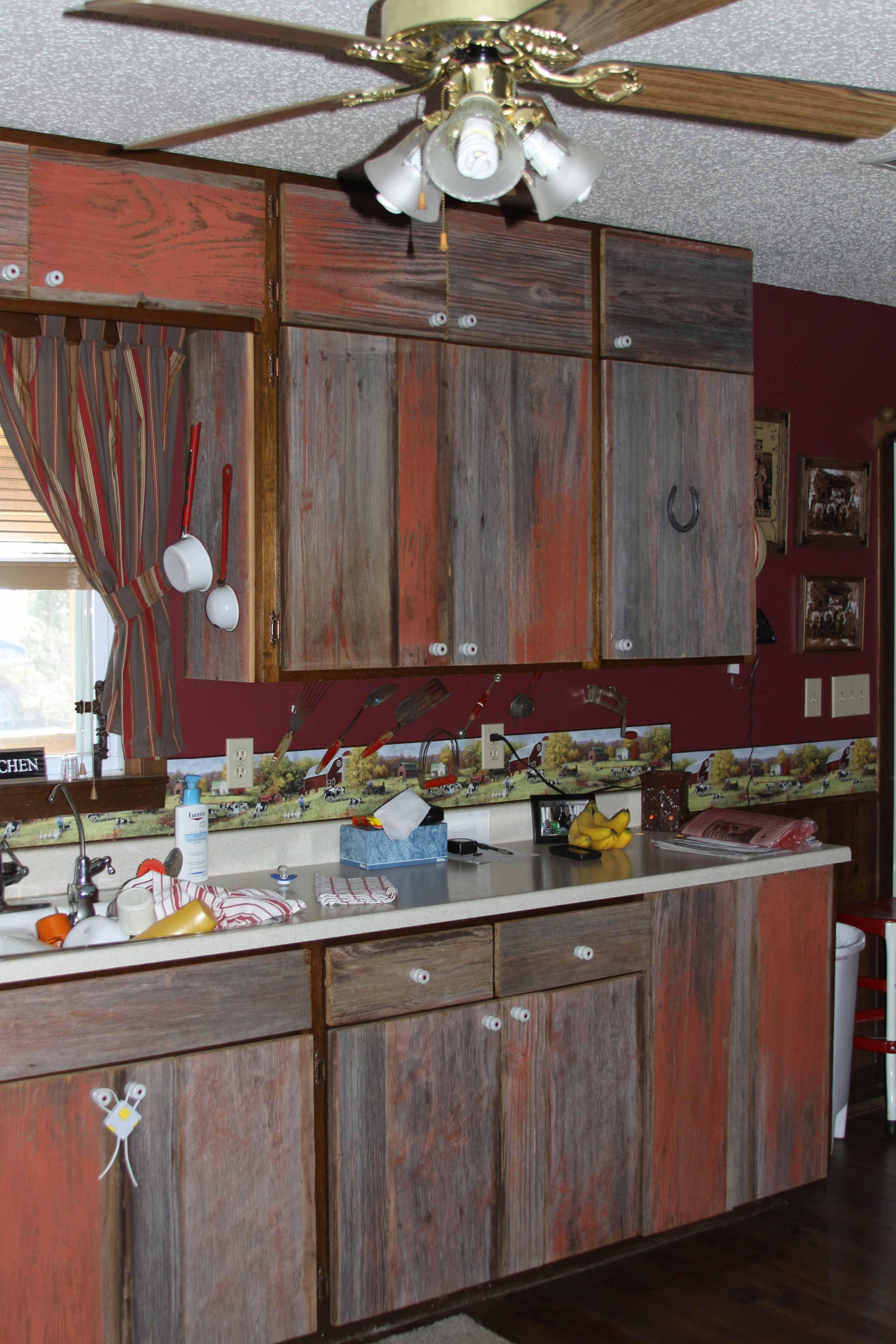 barn kitchen furniture barn board cabinet doors with images barn board