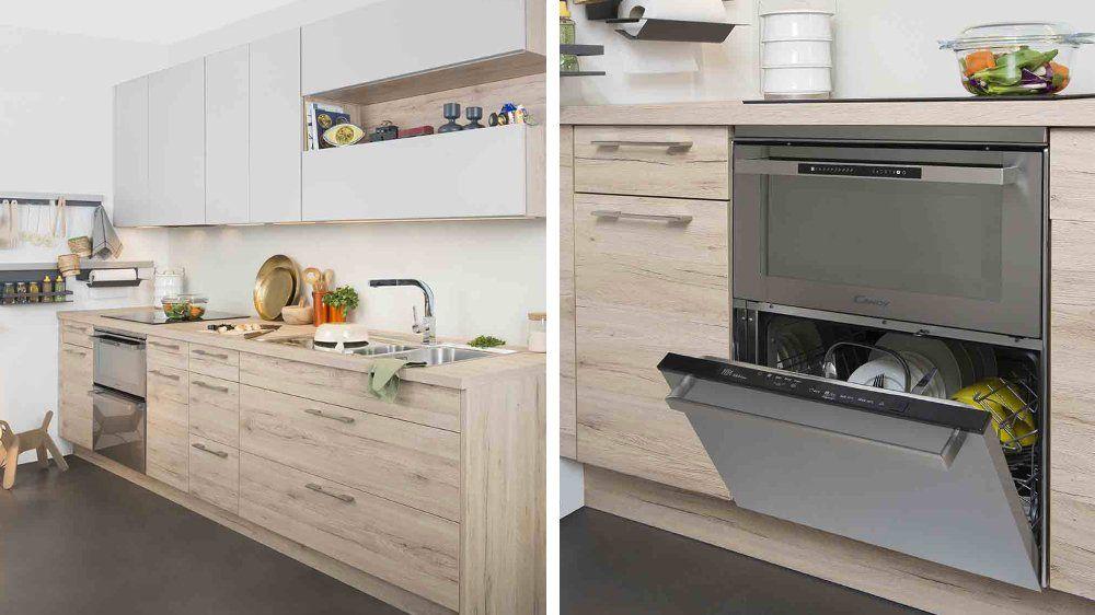 cuisine bois clair et blanc muscade darty Envie d\u0027une Belle