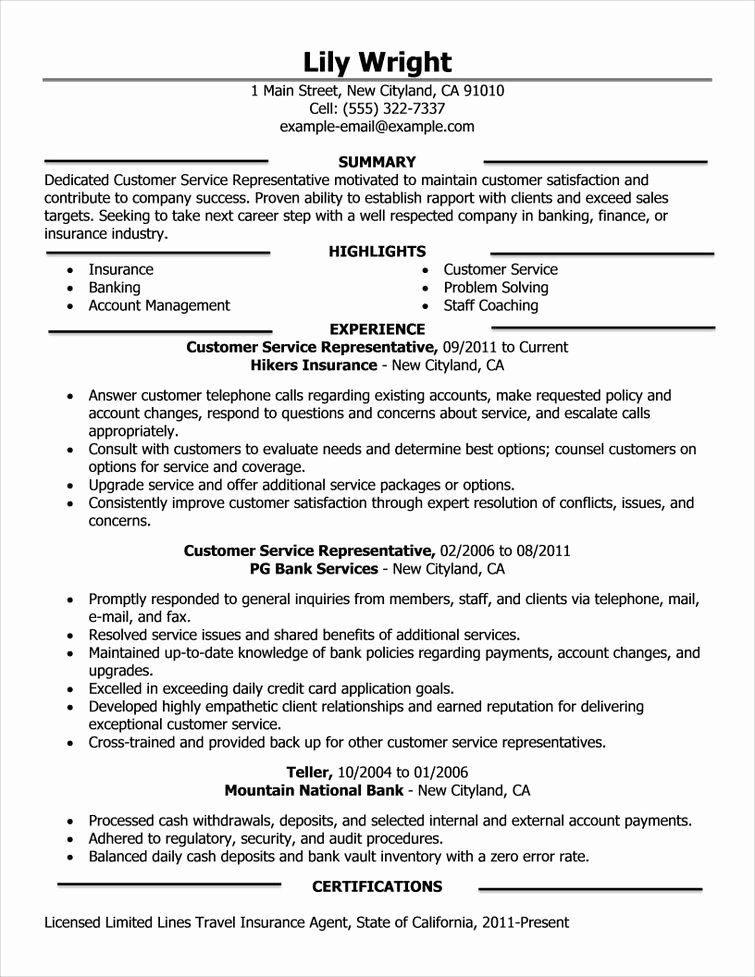 20 insurance customer service resume in 2020 good summary example for an administrative assistant latest cv format download ms word library with no experience
