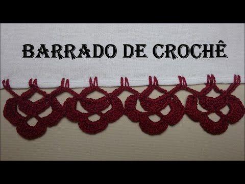 Barrado de Crochê Carreira Única # 01 - YouTube