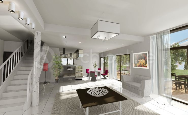 plan-maison-moderne-maison-quevert-de4d19824jpeg (740×453 - plan de maisons modernes