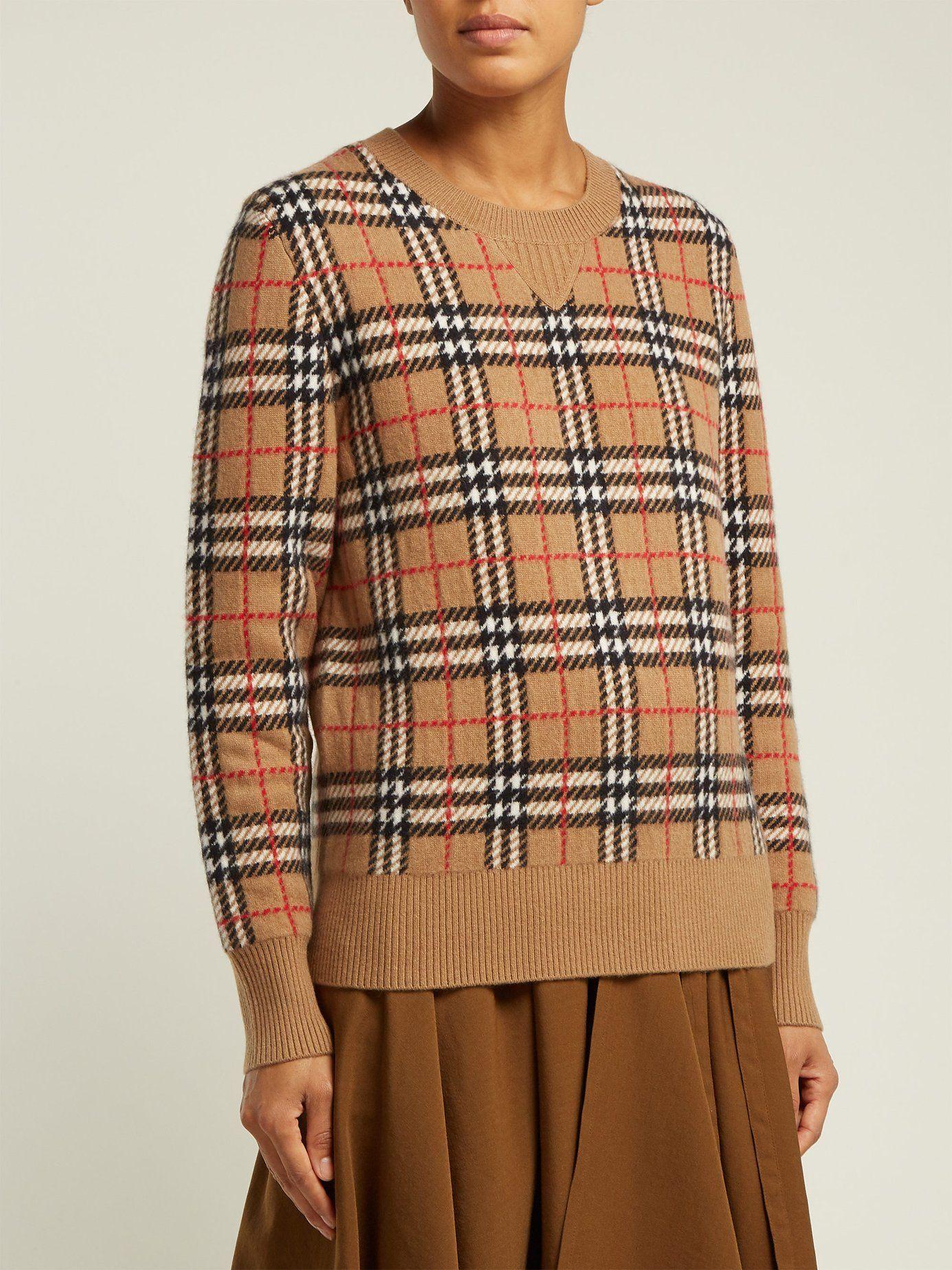2c8051211eb538 Banbury Vintage-check cashmere sweater