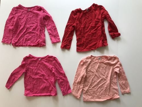 2f22c3a6 Old-Navy-Tees-Shirts-Girls-Long-Sleeve-Cotton-Size-2T-Pink-Red-Lot-of-4