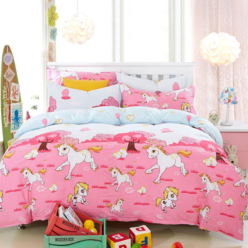 Aliexpress.com : Buy cute horse comforter sets 2015 pink ...
