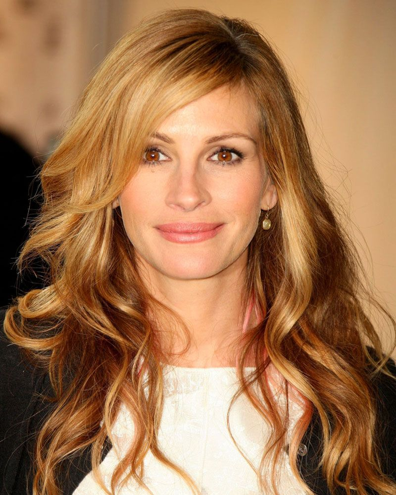 Julia Roberts Strawberry Blonde Cute Haircuts Pinte