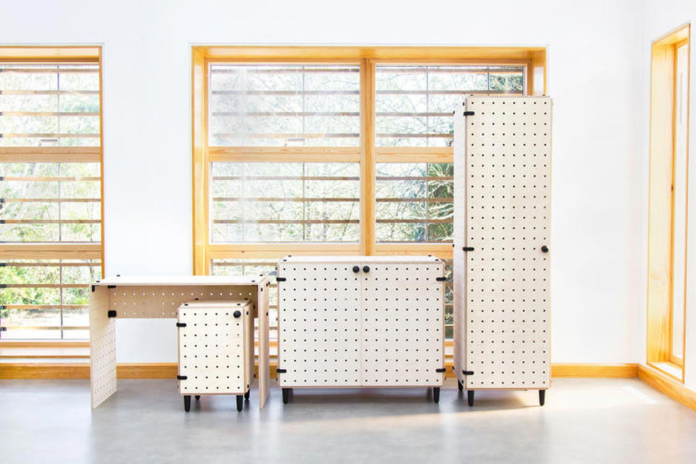 New modular flatpack furniture line assembles without tools