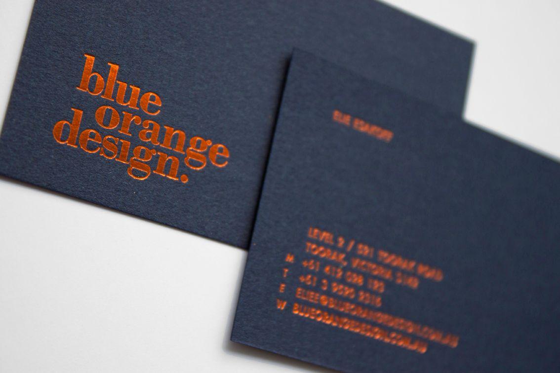 Blue Orange Design On Behance Colorful Business Card Blue Business Card Blue Logo Design