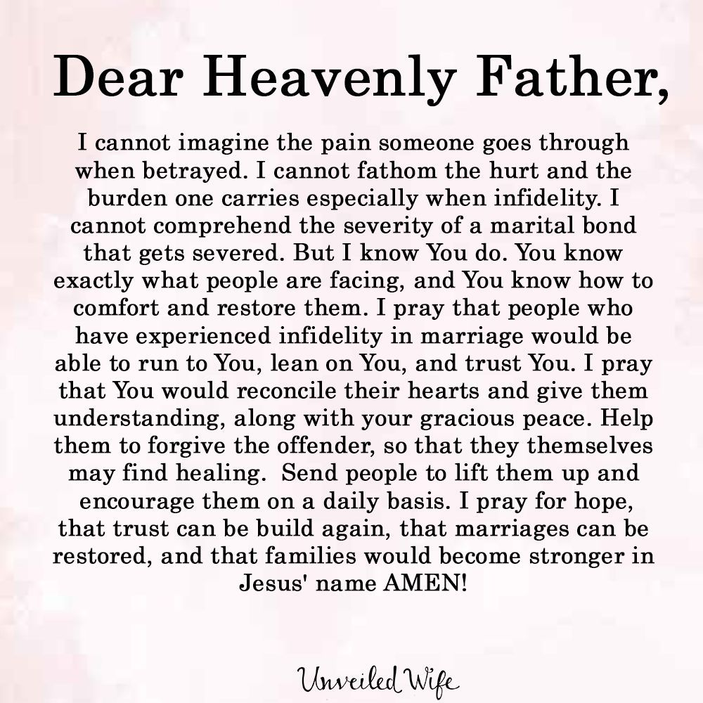 Prayer Of The Day - Building Trust After Infidelity