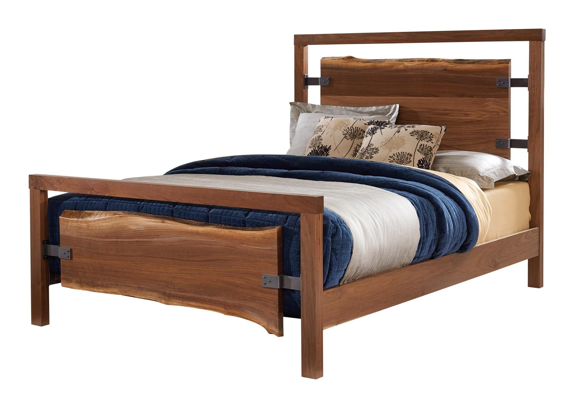 Amish westmere bed with live edge slabs contemporary furniture