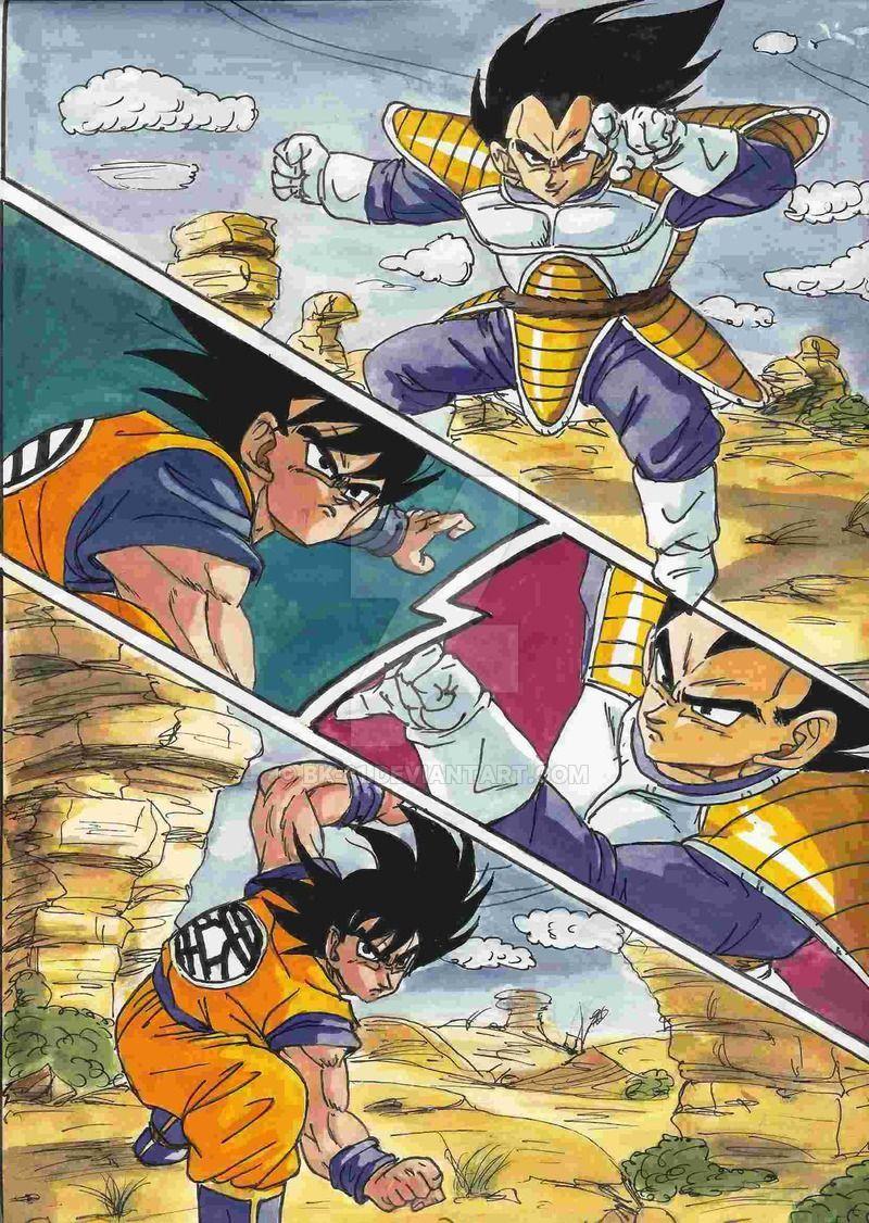 Goku vs vegeta manga google search dragon ball z - Dbz goku vegeta ...