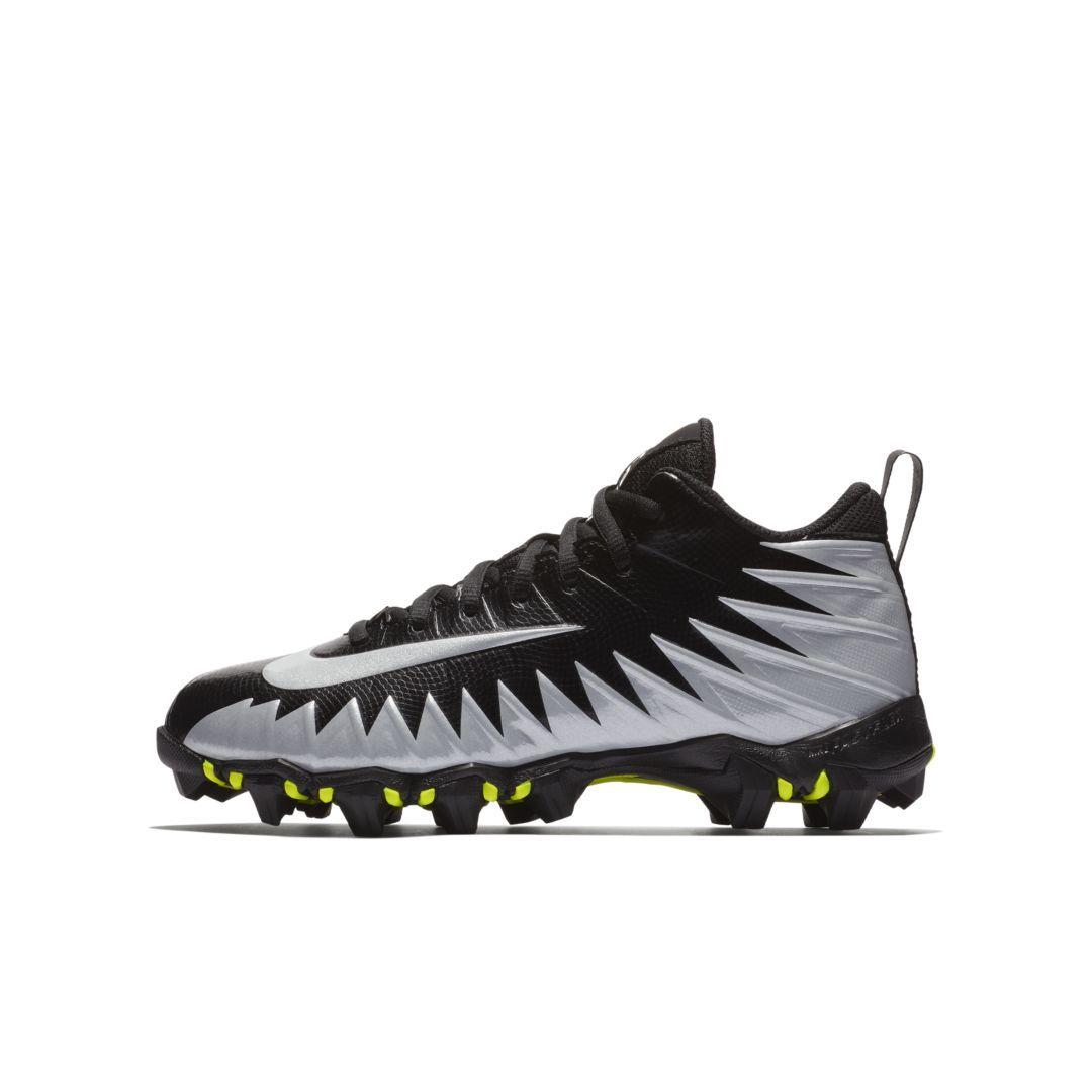 e0d5eefea Nike Alpha Menace Shark (Wide) Little Big Kids  Football Cleat Size 4.5Y  (Black)