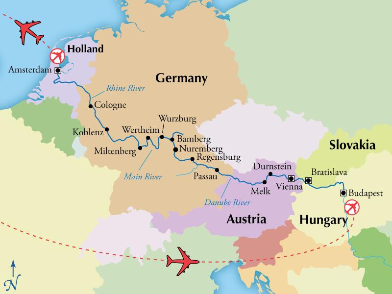 14 Night Danube Main Rhine River Cruise 2499 Gate 1 Travel