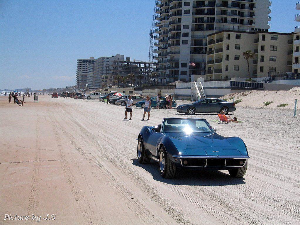 Cruising on the beach in a convertible daytona beach