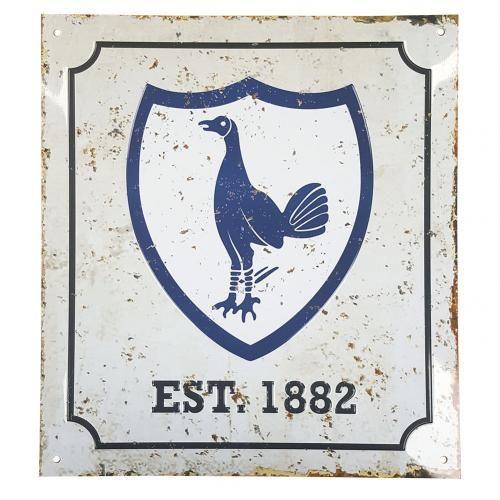 Tottenham Hotspur F C Retro Logo Sign Tottenham Hotspur Retro Logo Logo Sign