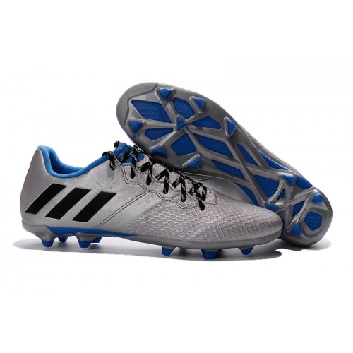 New Adidas Messi 16 3 Fg Football Boots Silver Black In 2020 Soccer Cleats Adidas Soccer Boots Soccer Shoes