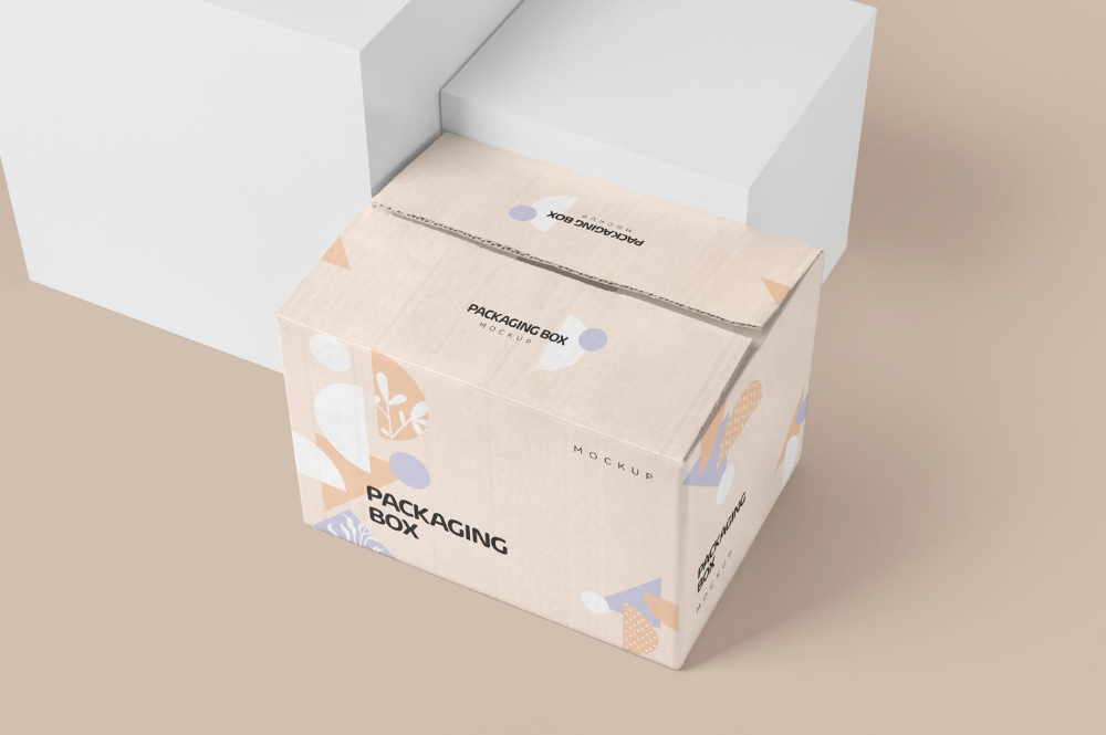 Download Use These Large Rectangular Cardboard Packaging Box Mockups To Showcase Your Designs Amazingly You Can Add Your Desi Box Mockup Box Packaging Packaging Mockup
