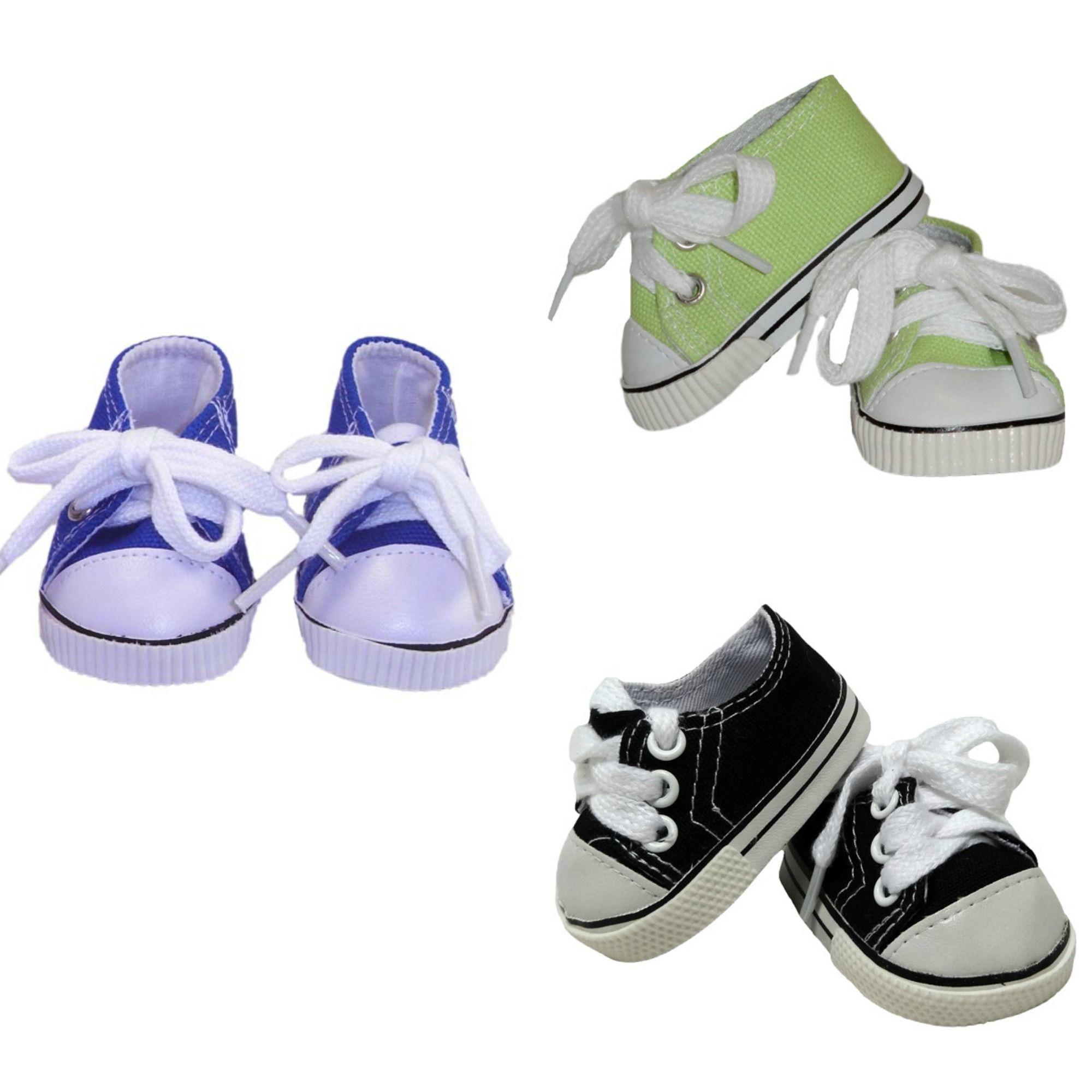 Canvas Sneaker Black Green or Navy