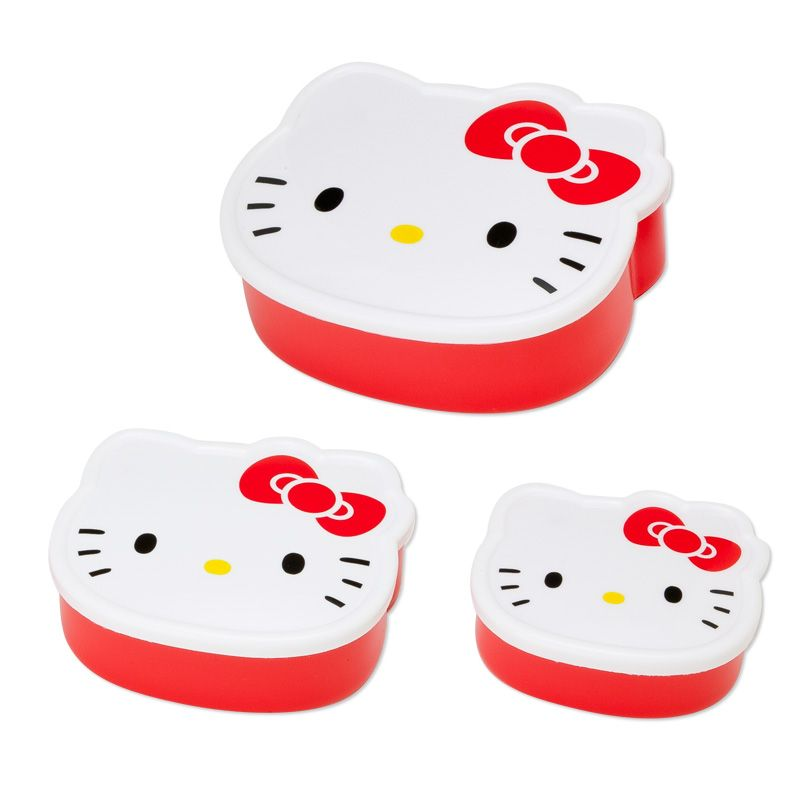 Hello Kitty Face-shaped lunch case set of 3 Sanrio online shop - official mail order site