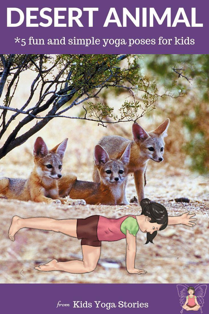 5 Desert Yoga Poses and 5 Desert Books for Kids (With