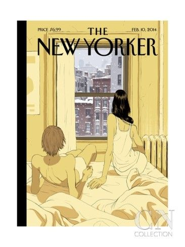 A Couple Stays In Bed While It Snows In The City by Tomer Hanuka ...