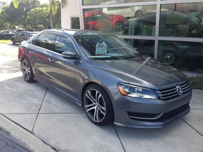 this passat is on h r springs 19 savannah wheels and full vw body kit volkswagen. Black Bedroom Furniture Sets. Home Design Ideas