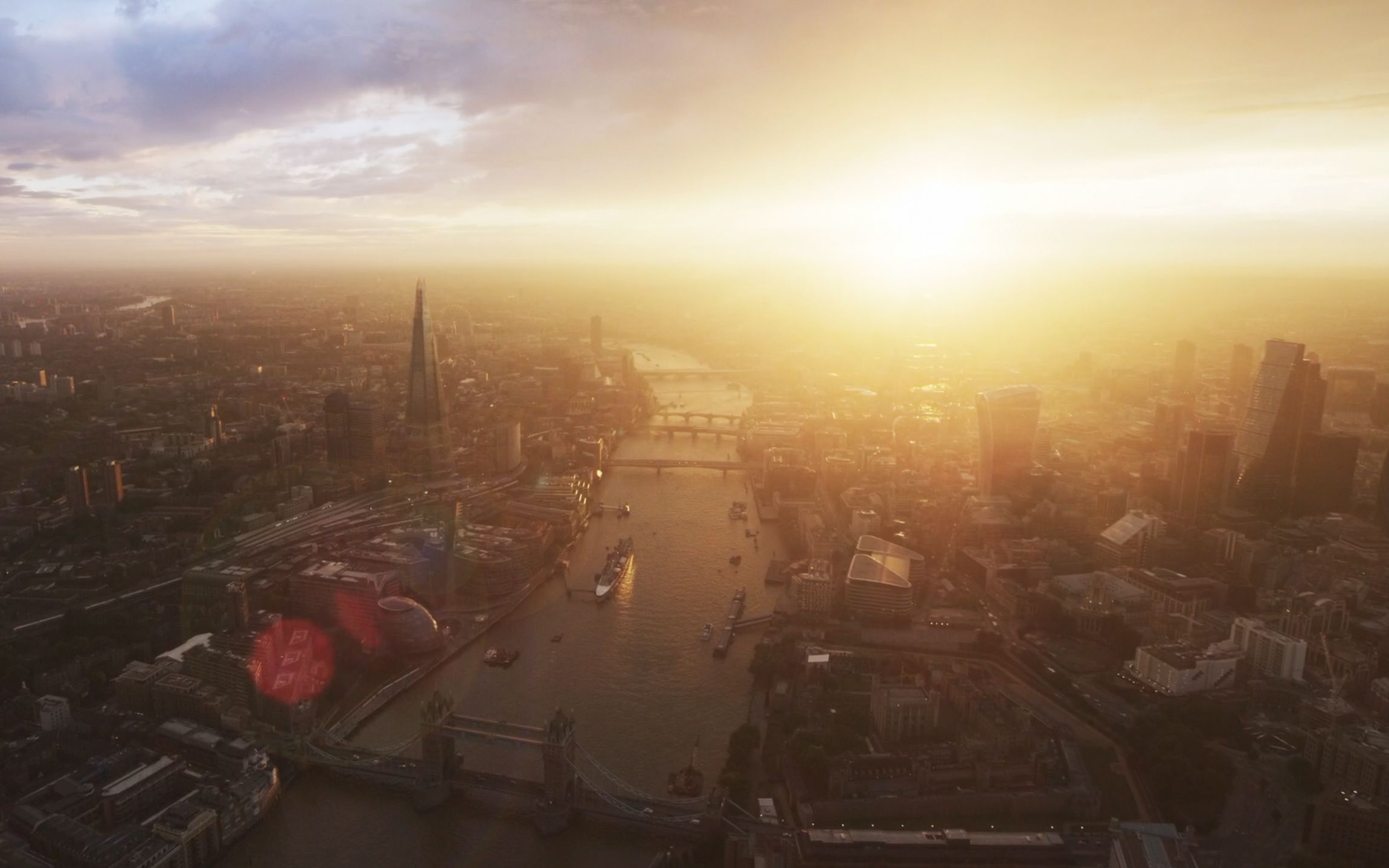 Aerial London Sunset From The Apple Tv Aerial Screensaver Drone Footage Aerial Tv Aerials Travel Photography