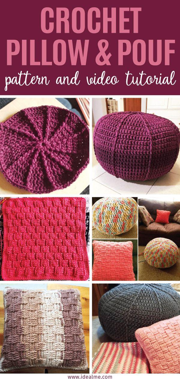A 30 Day Crochet Challenge: Pillows & Poufs | crochet | Pinterest ...