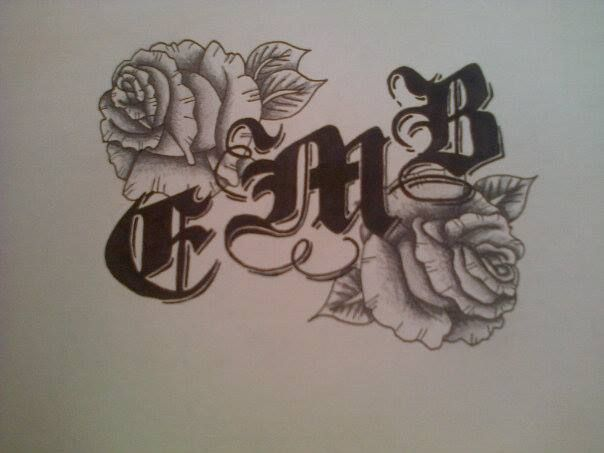 Roses and initials