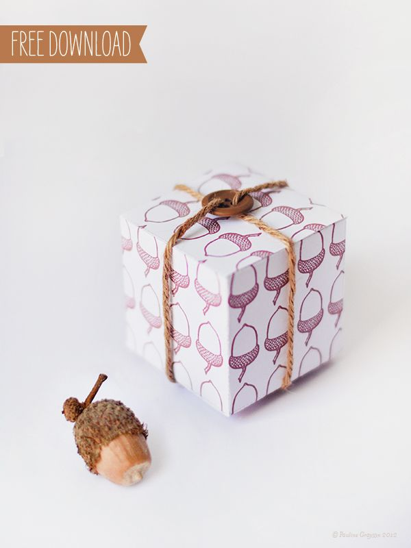 Acorn Gift Box-Free Download #free #box #template #fall cajas - gift box templates free download