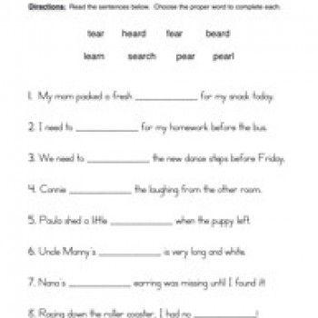 Ear Worksheet 1
