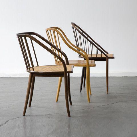 Chairs by Joaquim Tenreiro, c 1948 Les Chaises Pinterest