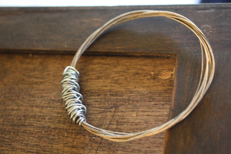 Looking For A Use Those Old Or Broken Violin Strings String Bracelet 13 00 Via Etsy