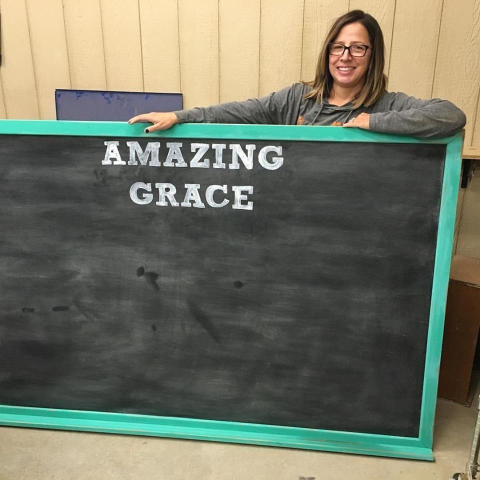 repurposed old chalk board frames/ Facebook: Holy Crap Craft Company or Instagram: @holycrapcraftco