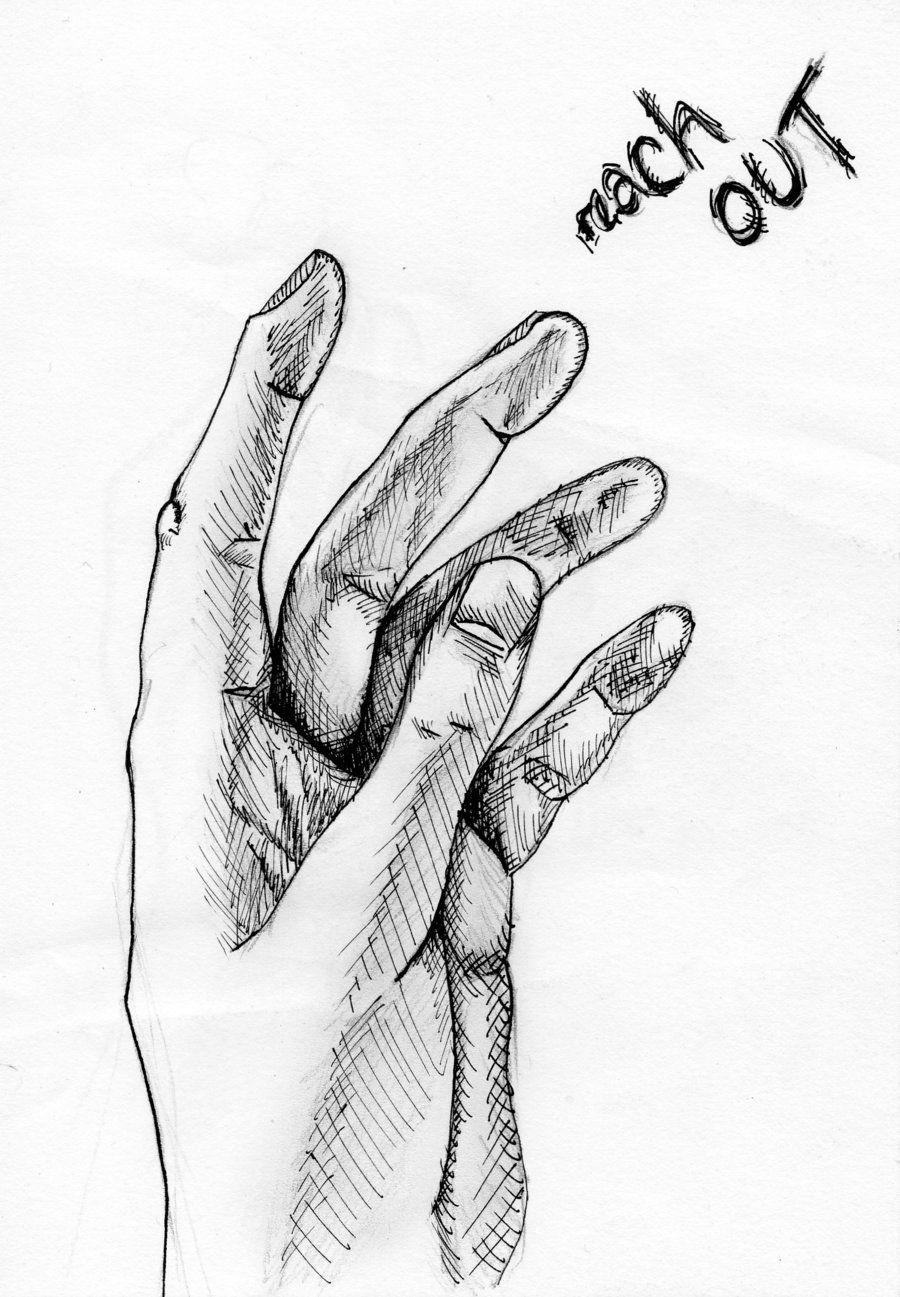 Hand drawing - 'Reach Out' by Doodle-Wotsit.deviantart.com ...