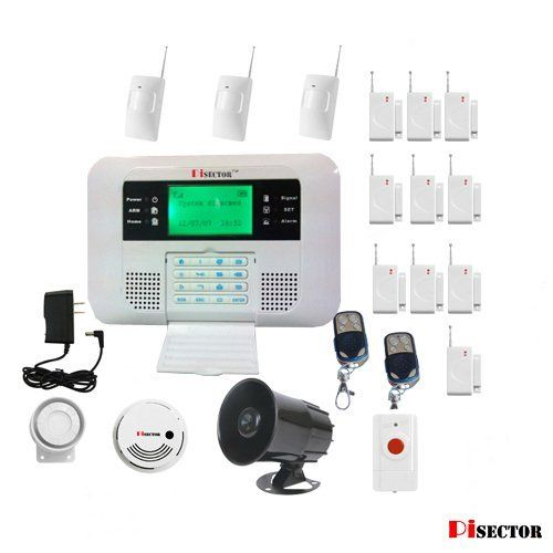 Pisector 2 In 1 Cellular And Landline Wireless Security Alarm System With Dual Netw Diy Home Security Home Security Alarm System Wireless Home Security Systems