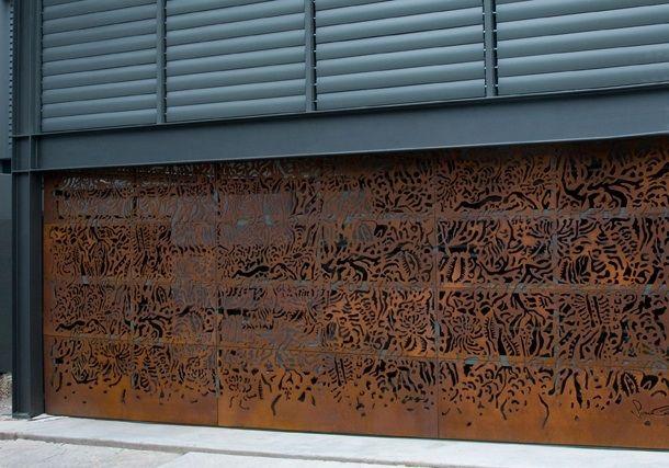 Axolotl Garage Door Rust Finish Garage Doors Metal Garage Doors Garage Door Design