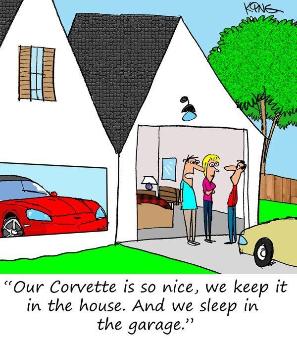Saturday Morning Corvette Comic Home Is Where The Corvette Is Parked Old Corvette Corvette History Corvette