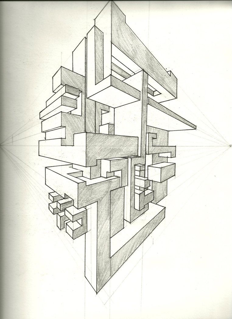 Two Point Perspective Exercise by *tower015 on deviantART