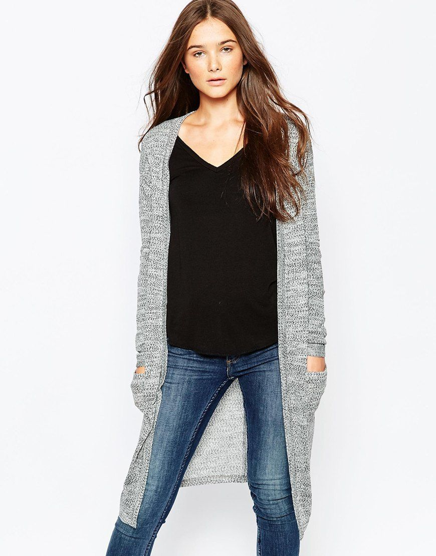 Vila Long Lined Cardigan With Front Pockets | human body ...