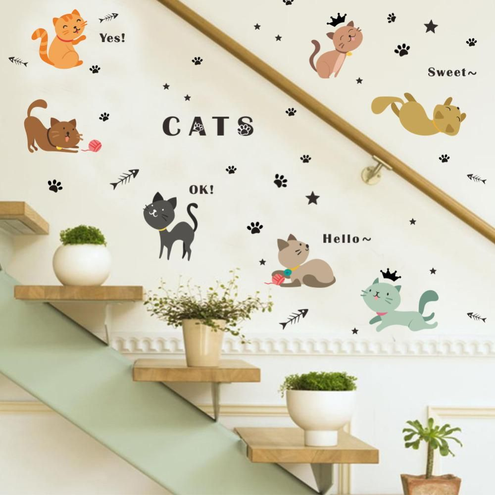 Cute Chi S Sweet Home Chi Cat Wall Sticker Cartoon Kitty Cat Vinyl