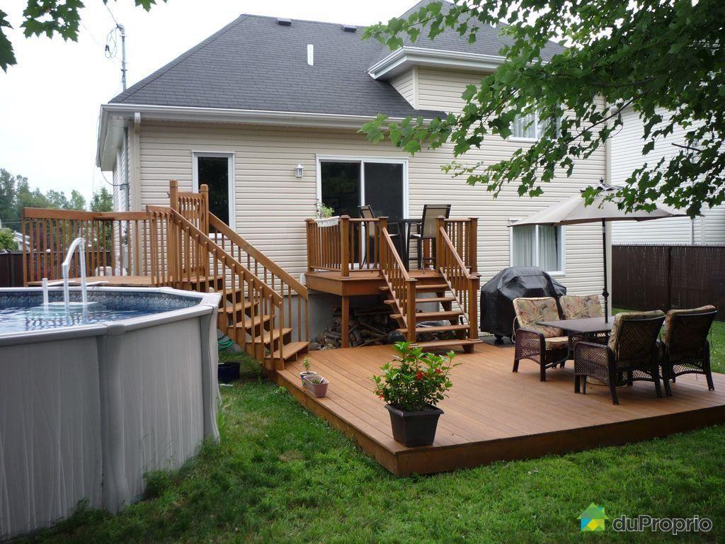 R sultat de recherche d 39 images pour patio 2 paliers balcon pierre pinterest patio porch - Amenagement exterieur piscine hors sol ...
