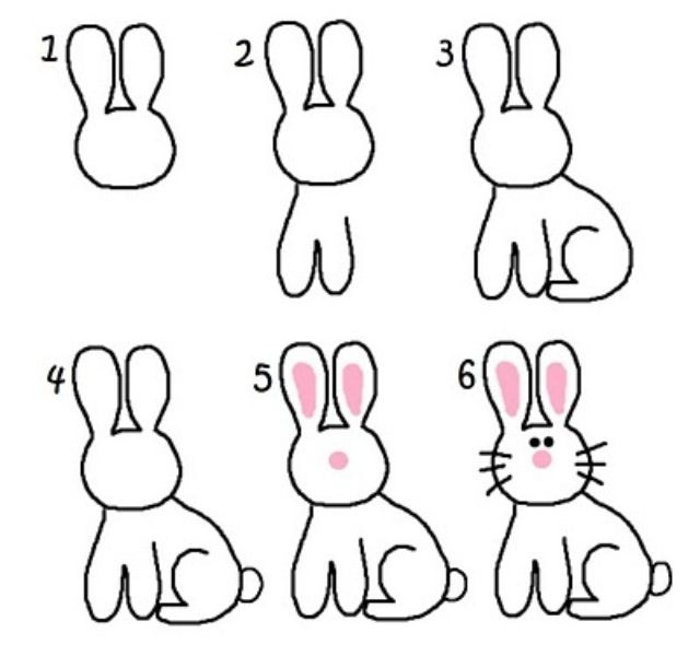 How To Draw A Cute Bunny Bunny Drawing Drawings Easy Drawings