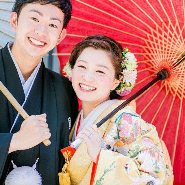 幸せがこっちまで伝わるー♡  #前撮りヘアアレンジ  #umorewedding  #ウエディング  #生花  #色打掛 #ナチュラル #SERLIA  #京都