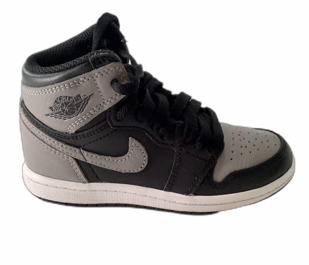 Details about Nike Air Jordan 1 Retro Shadow Black Sneaker