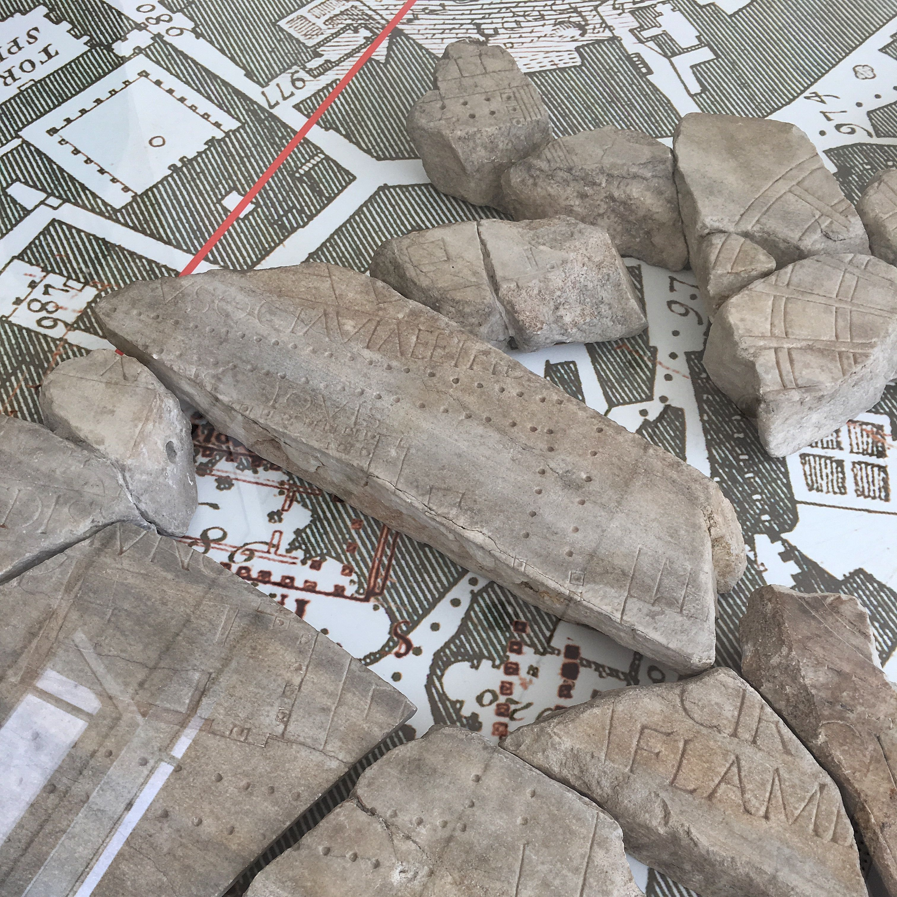 Fragments Of The Forma Urbis Romae Or Severan Marble Plan