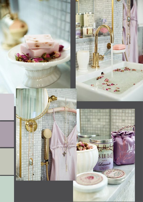 lilac colors for our new bathroom its a good change from the primitive decor